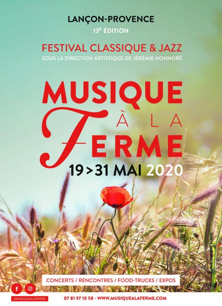 Affiche Festival Musique à la Ferme 2020